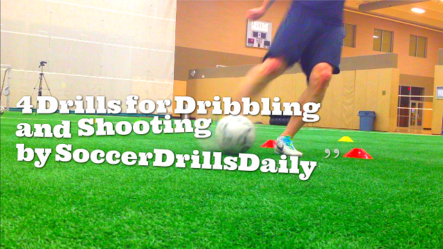 4 Soccer Dribbling and Shooting Drills