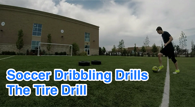 Tire Drill for Dribbling Practice