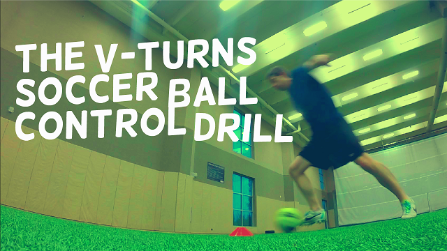 Soccer V-Turns Ball Control Drill