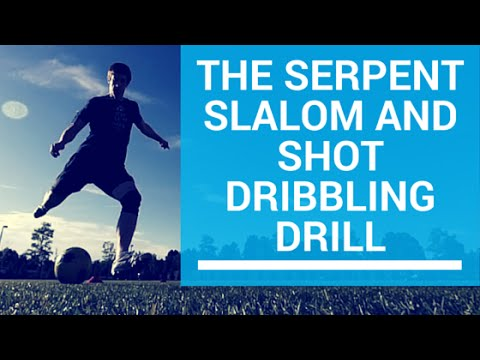 Develop Dribbling and Shooting with the Serpent Slalom Drill