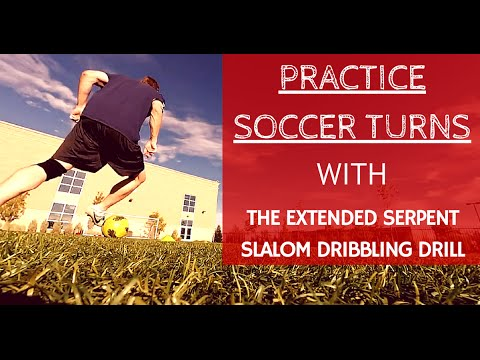 The Extended Serpent Slalom Soccer Dribbling Drill – Tight Cuts, Ball Control and Shots on Goal
